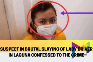 Suspect confesses to the crime of killing lady driver in Laguna to Calamba police