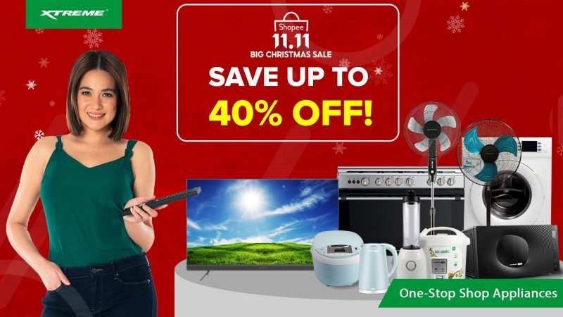 Save-the-date on November 11 for up to 40% discounts and additional promo coupons in all XTREME Appliances products