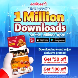 Joy, delivered: Jollibee App gets over 1M downloads!