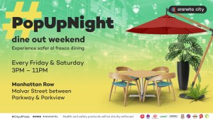 Enjoy longer and safer al fresco dining at Araneta City's #PopUpNight