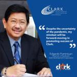 Welcome statement of Clark Development Corporation in the appointment of former Angeles City Mayor Edgardo Pamintuan as Chairman of the CDC Board of Directors