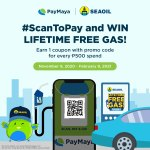 Win a lifetime supply of free SEAOIL gas when you #ScanToPay with PayMaya!