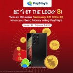 Send digital Ang Pao with PayMaya and be one of the Lucky 8 to win a brand-new Samsung Galaxy S21 Ultra 5G!