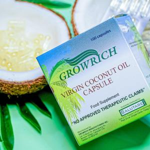 GROWRICH PH's first FDA-approved patented VCO capsule