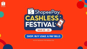 Enjoy free shipping, ₱1 deals, bigger cashbacks, and more at the 4.4 ShopeePay Cashless Festival