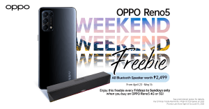 TGIF! Score special freebies on weekends when you purchase OPPO Reno5 Series