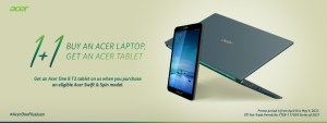 Get a free Acer One 8 T2 Tablet in #AcerOnePlusJuan bundle