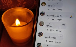 How many times do we have to type in 'condolences' in our Facebook comments?