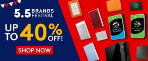 Gear up for great deals with Seagate x Shopee 5.5 Brands Festival Sale!