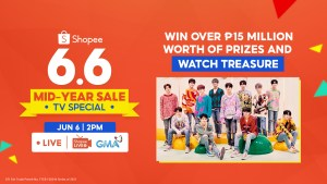 Win over ₱15 million worth of prizes and catch rising K-Pop cct Treasure at Shopee's 6.6-7.7 Mid-Year Sale TV Special