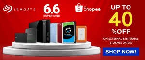 Seagate offers super deals on Shopee 6.6 Mid-Year Sale