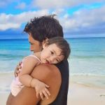 irst-time parents Nico Bolzico and Solenn Heusaff are teaching Tili to love water