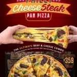 Philly Cheesesteak Pan Pizza is now available at Pizza Hut