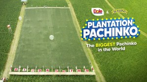Dole's sun-powered promo ends with the biggest Plantation Pachinko game in the world