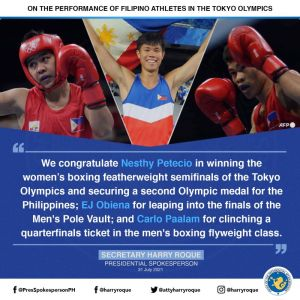 Philippines on the brink of a potential second Olympic gold medal in boxing following Nesthy Petecio's victory