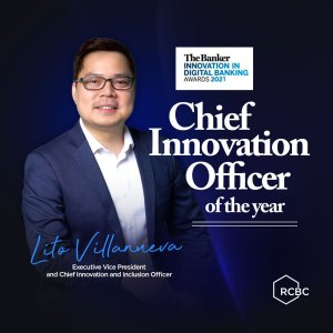RCBC's 'Mr. FinTech' is The Banker's Chief Innovation Officer of the Year