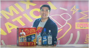 Luis Manzano Collab with Ginebra San Miguel for First Ever Online Mixology Series