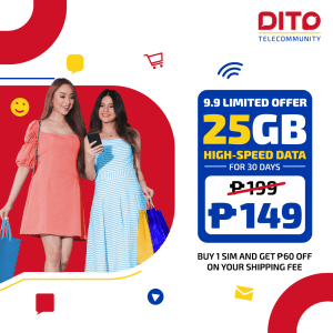 Snag these exciting deals when you purchase your DITO SIM Cards online this month!