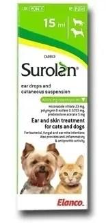 Surolan ušní kapky pro psy