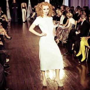 Design by Gary Gonzalez shown at Next Fashion 2012 runway show at Germania Place during Fashion Focus Week Chicago.