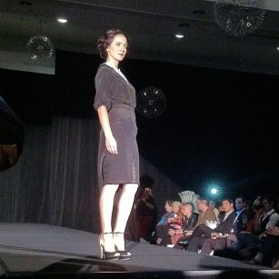 Fashion Focus Week Queen of Hearts runway show. Design by Anna Fong. Model Beba Georgieva