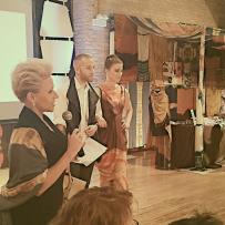Fashion designer Juju LaCour competing at the Heshima Challenge Project Runway inspired competition.