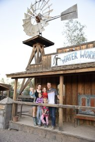 family at a dude ranch
