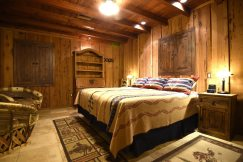 guestroom at a dude ranch