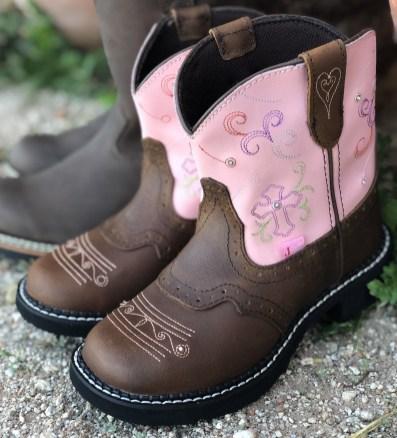 Esmerelda Pink Justin Boots Kids