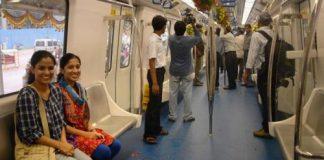 Ladies special compartment in Bangalore metro
