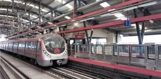 Delhi Metro Pink Line Train