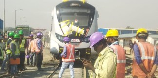 First Train set for Ahmedabad Metro Project