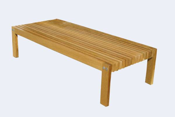 5ft George Nelson Style Vintage Slatted Wood Bench