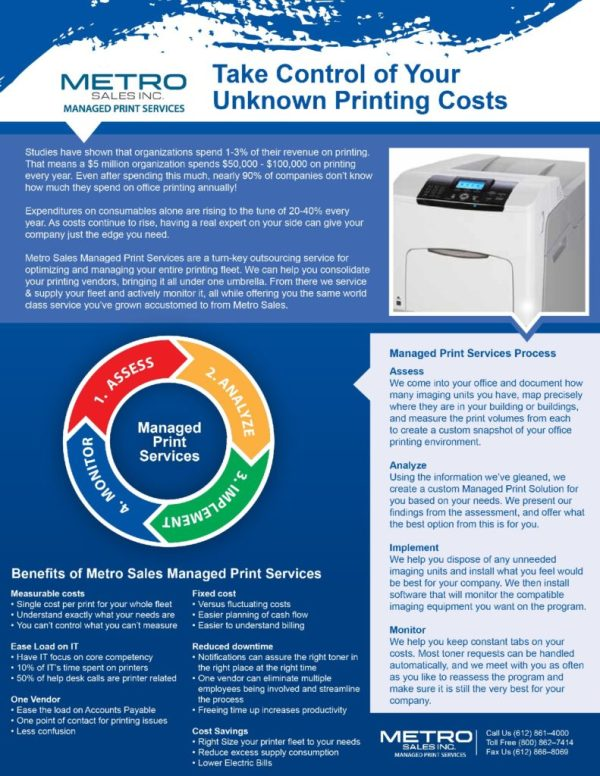 Managed Print Services | Minnesota MPS | Metro Sales Inc.
