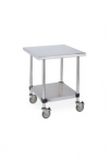 Metro Lab Table w/ Stainless Island Top and Solid HD Shelf