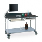 Metro Lab Tables w/ Stainless Backsplash and Solid HD Shelf