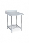 Metro Lab Table w/ Stainless Backsplash and 3-Sided Frame