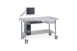 Metro Lab Tables w/ Stainless Island Top and 3 Sided Frame