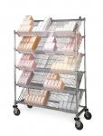 Slanted Shelf Catheter Cart