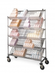 Slanted Shelf Catheter Cart