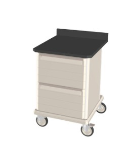 Mobile Workcenter Epoxy Tops with Drawers