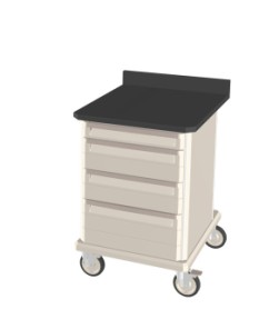 Standard Duty Mobile Workcenter with Epoxy Tops