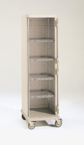 Mobile Tall Unit Enclosed with Shelves