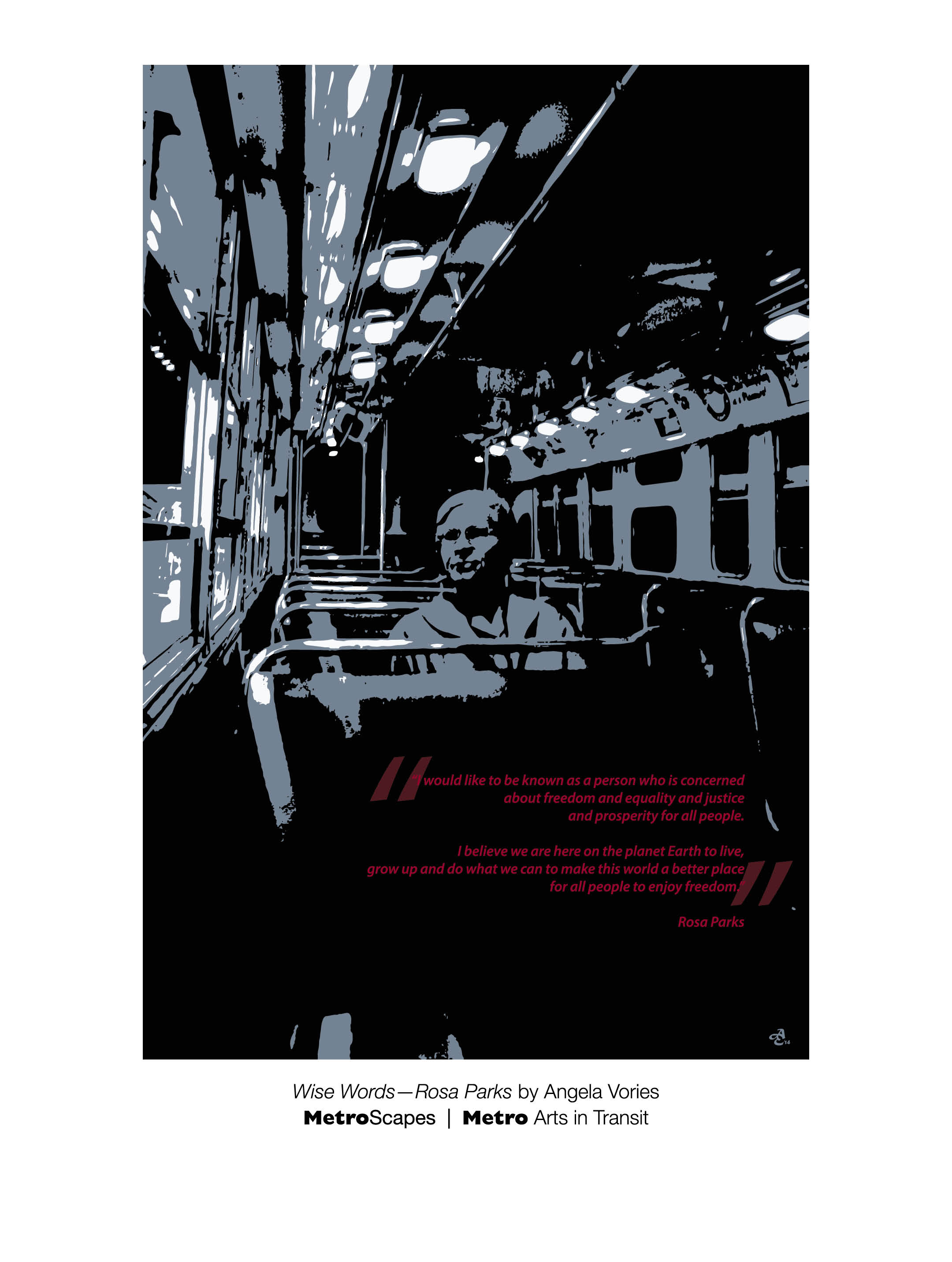 metroscapes 2015 poster wise words rosa parks