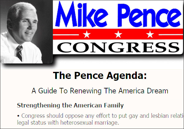 Image composite from Archive.org's snapshot of MikePence.com, dated April 17, 2000
