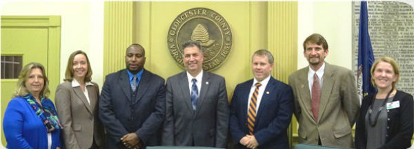 Members of the Gloucester County School Board (Credit: Gloucester County Public Schools).