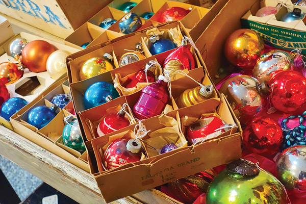 Vintage ornaments at Miss Pixies - Photo: Todd Franson