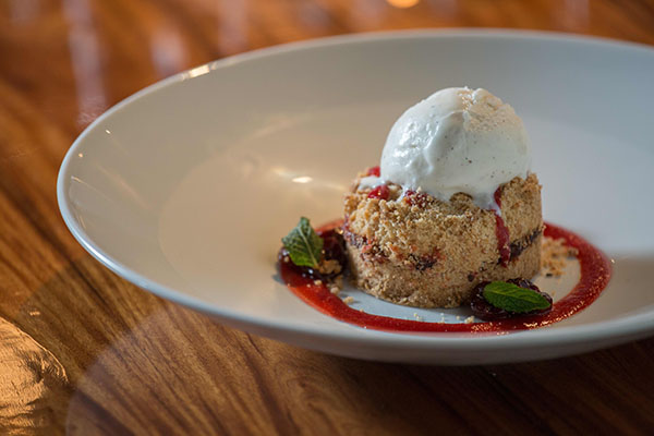 Drag Brunch Cherry Crumb Cake