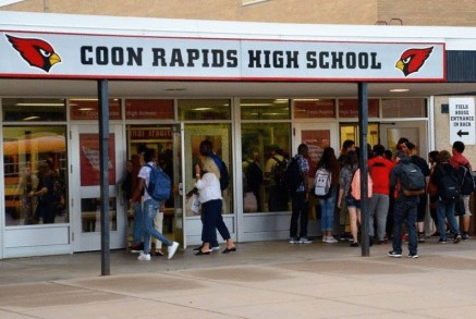 A photo of the school that allegedly stopped a trans teen from using the boys' locker room