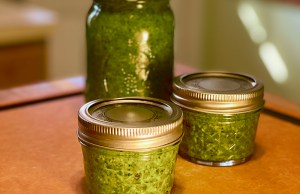Pesto in jars